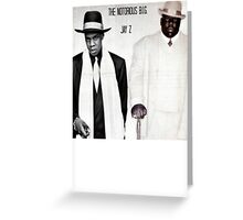 Jay-Z & Biggie Smalls Stage Performing 1990s Rap Greeting Card