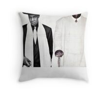 Jay-Z & Biggie Smalls Stage Performing 1990s Rap Throw Pillow