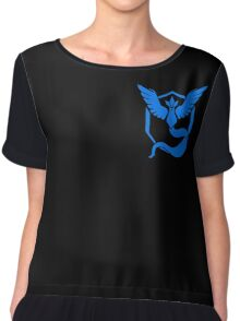 Pokemon Go | Team Mystic | Black Background | Small | New! | High Quality! Chiffon Top