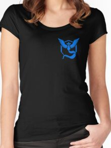 Pokemon Go | Team Mystic | Black Background | Small | New! | High Quality! Women's Fitted Scoop T-Shirt