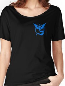 Pokemon Go | Team Mystic | Black Background | Small | New! | High Quality! Women's Relaxed Fit T-Shirt