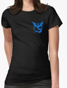 Pokemon Go | Team Mystic | Black Background | Small | New! | High Quality! Womens Fitted T-Shirt