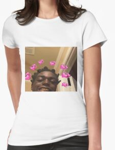 Kodak Black Hearts Womens Fitted T-Shirt