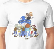 Zombie chasing the Doctor Unisex T-Shirt