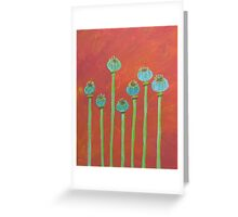 Seven Poppy Seed Pods Greeting Card