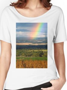 """""""Rainbow over Pleasentview"""" Women's Relaxed Fit T-Shirt"""