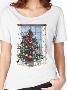 Retro Christmas Tree Women's Relaxed Fit T-Shirt