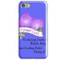Gamer Girls Kick Ass iPhone Case/Skin