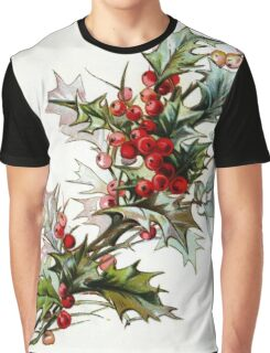 Vintage Holly Berries Graphic T-Shirt