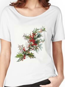 Vintage Holly Berries Women's Relaxed Fit T-Shirt