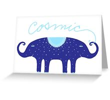 Cosmic Elephant  Greeting Card