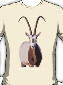 Scimitar-Horned Oryx - for darker clothing T-Shirt