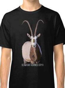 Scimitar-Horned Oryx - for darker clothing Classic T-Shirt