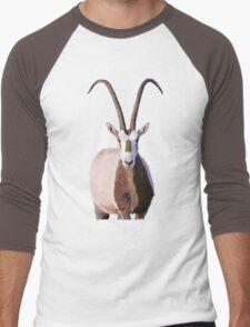Scimitar-Horned Oryx - for darker clothing Men's Baseball ¾ T-Shirt