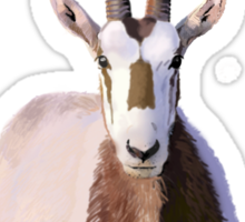 Scimitar-Horned Oryx - for darker clothing Sticker