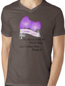 Gamer Girls Kick Ass Mens V-Neck T-Shirt