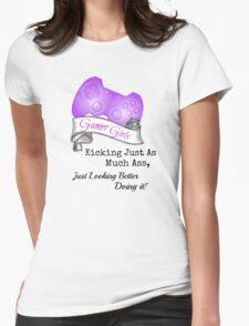 Gamer Girls Kick Ass Womens Fitted T-Shirt