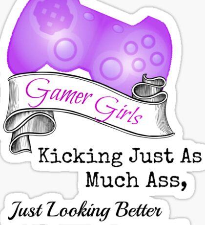 Gamer Girls Kick Ass Sticker