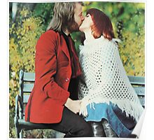 ABBA's kiss!  Benny and Frida lovely design!~ Poster