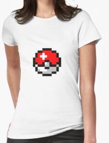 8bit Pokeball Womens Fitted T-Shirt