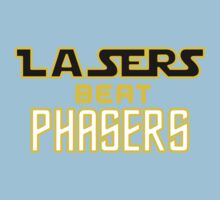 Lasers Beat Phasers One Piece - Short Sleeve
