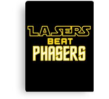 Lasers Beat Phasers Canvas Print
