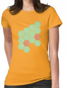 Mint Honeycomb Womens Fitted T-Shirt