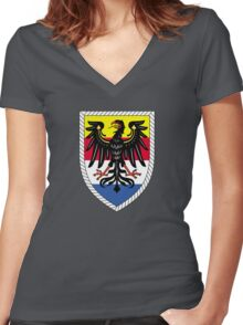 14th Panzergrenadier Division (Bundeswehr - Historical) Women's Fitted V-Neck T-Shirt
