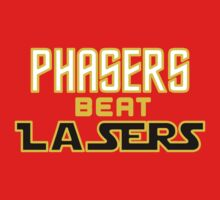 Phasers Beat Lasers Baby Tee