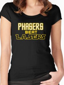 Phasers Beat Lasers Women's Fitted Scoop T-Shirt