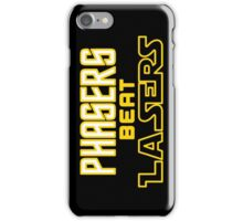 Phasers Beat Lasers iPhone Case/Skin