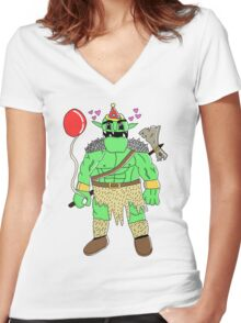 Party Orc Women's Fitted V-Neck T-Shirt