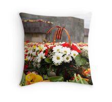 Flower Day Throw Pillow