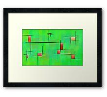Ossipiana V1 - digital abstract Framed Print
