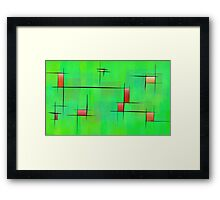 Ossipiana V1 - digital abstract Framed Print