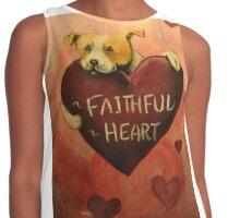 Pit Bull~Dog~FAithful Heart~Valentine~LOVE Contrast Tank