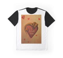 Dachshund~Dog~I Love You~Valentine Graphic T-Shirt