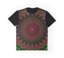 Mandala in red, green and pink Graphic T-Shirt