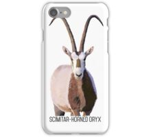 Scimitar-Horned Oryx iPhone Case/Skin