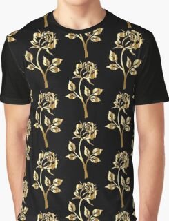 Gold Rose Graphic T-Shirt