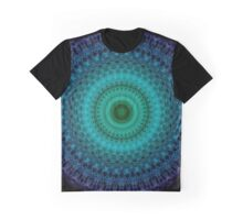 Mandala in green and blue tones Graphic T-Shirt