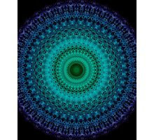 Mandala in green and blue tones Photographic Print