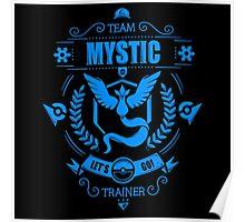 Pokemon Go | Team Mystic Trainer | Black Background | New! | High Quality! Poster