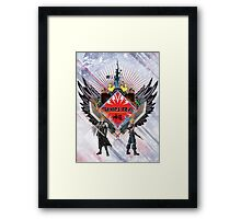 Final Fantasy VII - Shinra (White) Framed Print