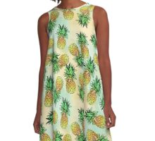 Pineapple Pattern A-Line Dress