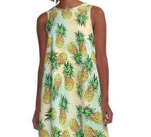 Pineapple Pattern A-Line Dress