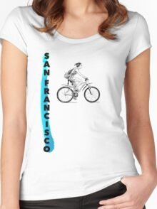 bicycle sf paint Women's Fitted Scoop T-Shirt