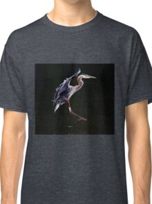 Great Blue Heron on the Wing Classic T-Shirt