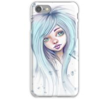 Blue Hair Nugoth Girl - Icicle iPhone Case/Skin