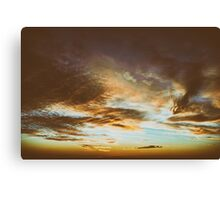Beautiful Sunset On Cloudy Summer Sky Canvas Print